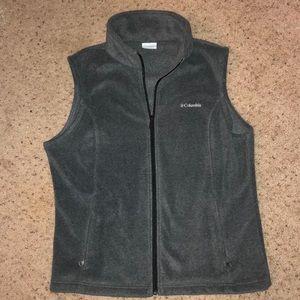 EUC Columbia Fleece Vest XL Dark Gray